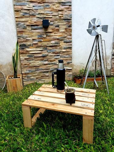 mesa ratona de palet rústica