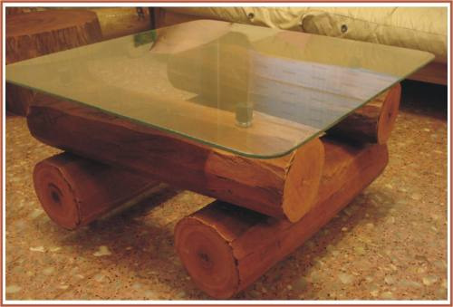 Mesas de troncos mesas originales de tronco de abrol para - Mesas de troncos de madera ...