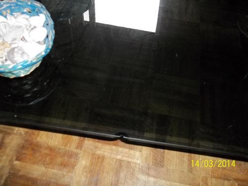 mesa ratona de vidrio