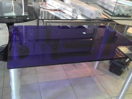 mesa ratona de vidrio color a elección solo en cristalcenter