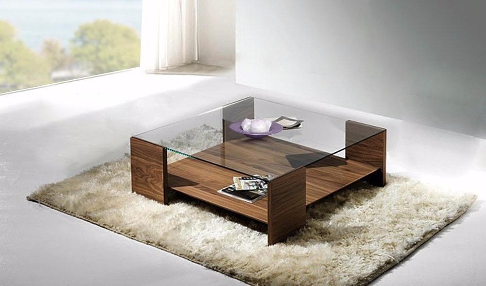 mesa ratona diseo moderno living madera y vidrio diamante cargando zoom