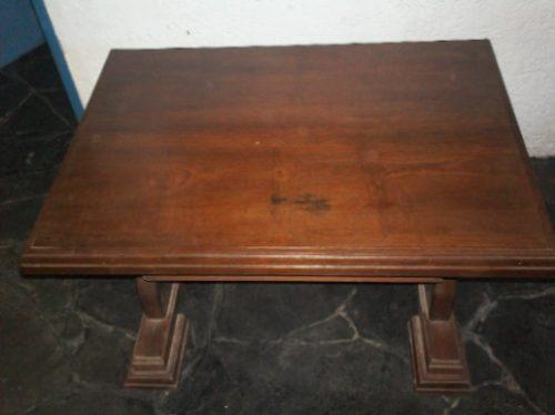 mesa ratona en cedro 0.60 x 0.90 con cajon