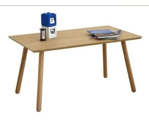 mesa ratona escandinava rectangular mdf laminado