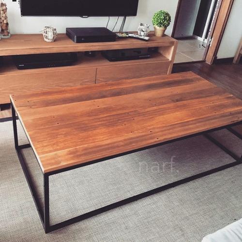 mesa ratona estilo industrial en lapacho