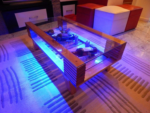mesa ratona exterior interior living vintage pallet luz led
