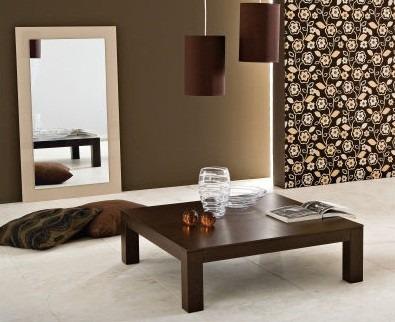 mesa ratona laqueada minimalista madera moderna asia