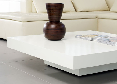 mesa ratona laqueada minimalista madera moderna  hongo