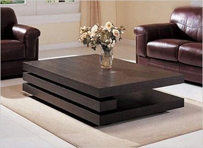 mesa ratona laqueada minimalista madera moderna.tres niveles