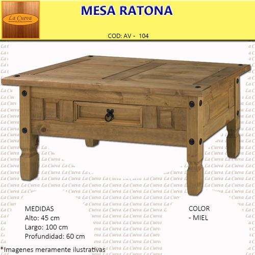 mesa ratona living