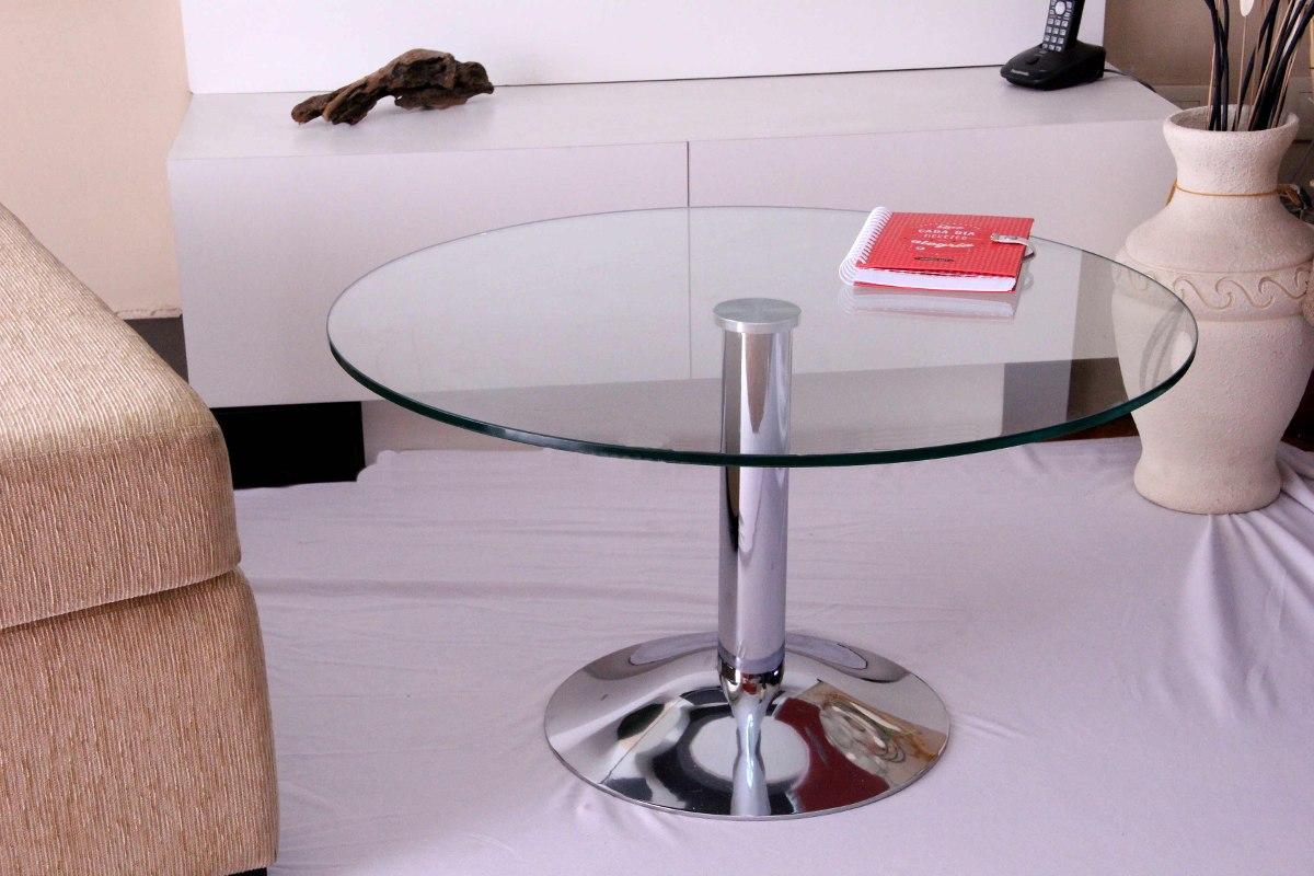 Mesa Ratona Living Diseño Redonda Vidrio Comedor 70 Cm - $ 6.200,00 ...