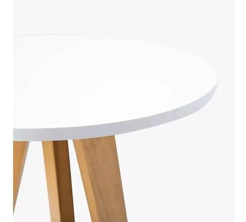 mesa ratona living juego de 2 redondas escandinavo laqueado