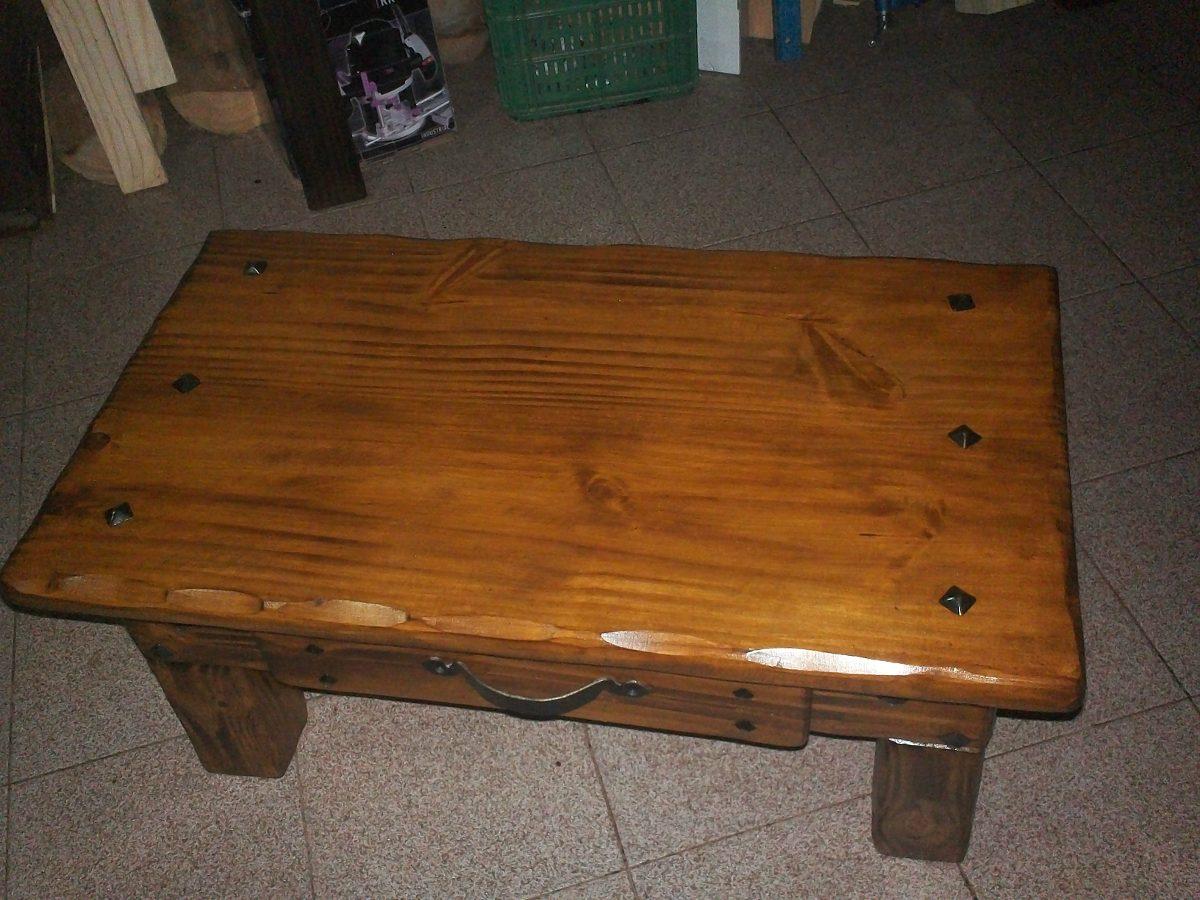 Mesa ratona de living en madera y vidrio en for Mesas de living