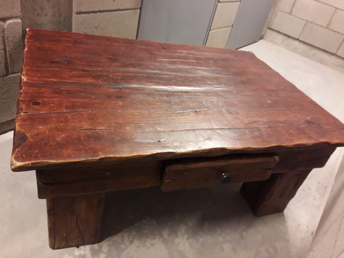 mesa ratona madera con cajon