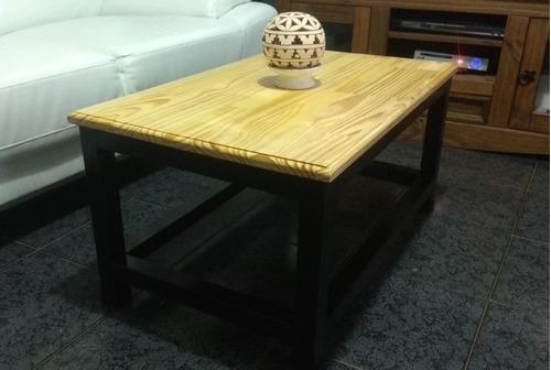 mesa ratona madera y hierro
