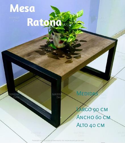 mesa ratona, melamina y hierro