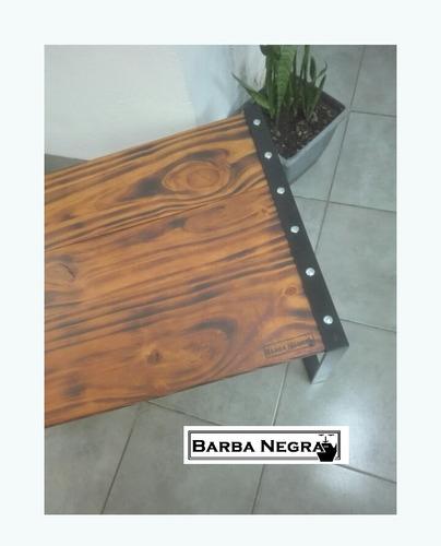 mesa ratona metal y madera (estilo insdustrial)