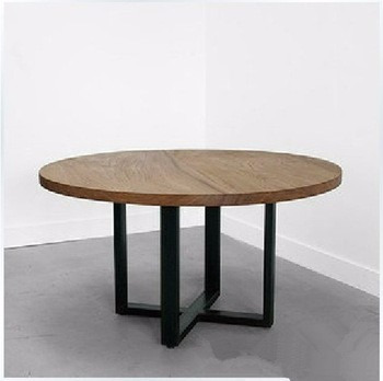 mesa ratona modelo viena. madera hierro rústica ruedas cedro