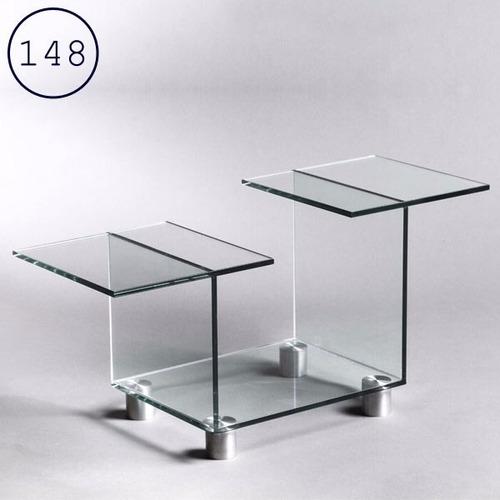 mesa ratona moderna  de vidrio . incluye envío en caba.