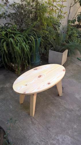 mesa ratona ovalada 0,80 de largo
