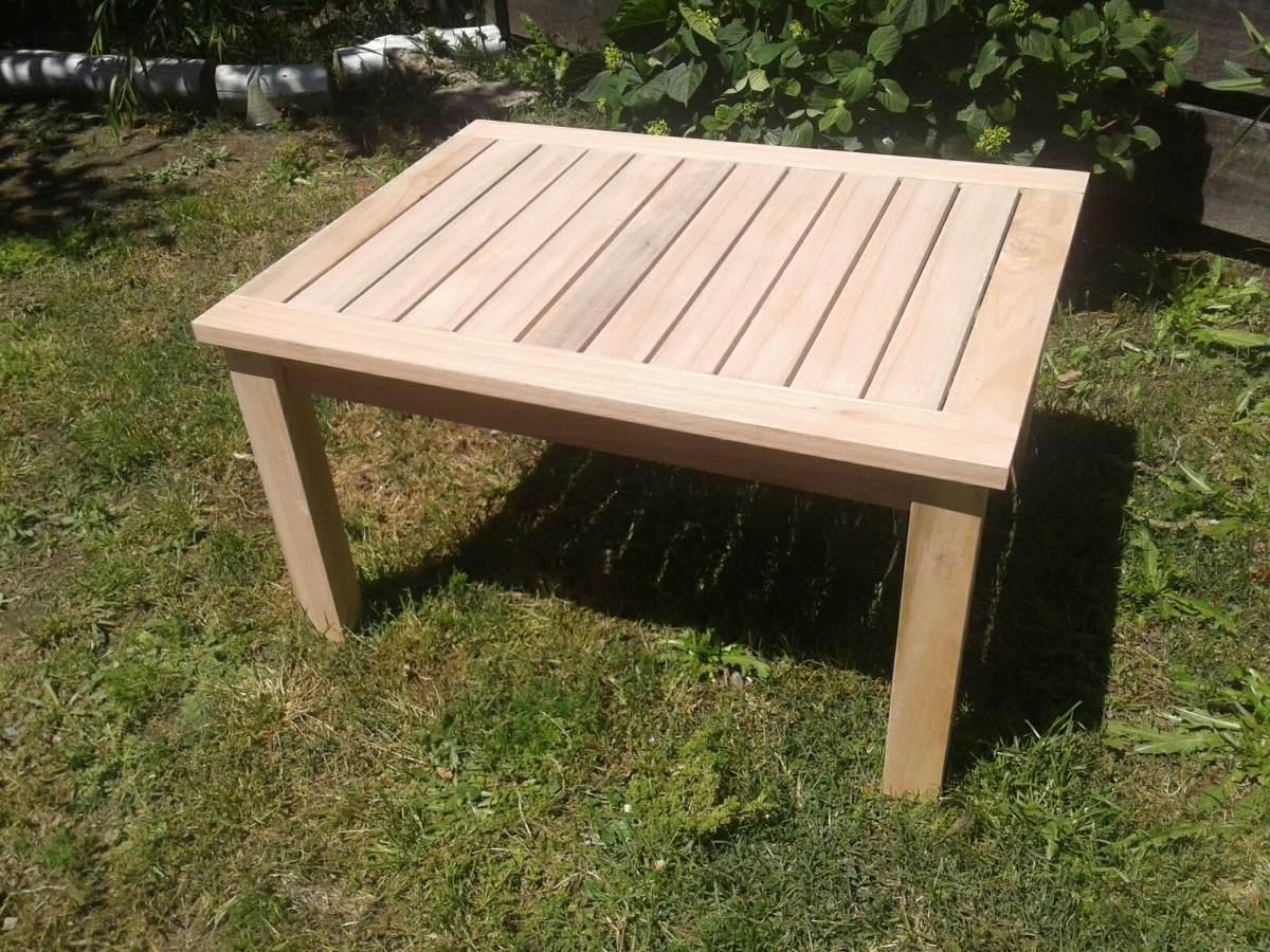 Mesa ratona para interior exterior en madera mazisa 2 - Mesas madera exterior ...