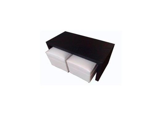 mesa ratona puente tapizada en ecocuero