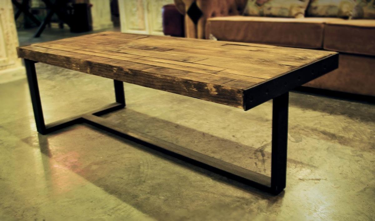 Photo collection diseno de madera y hierro - Mesa de hierro ...