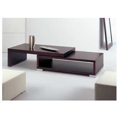 mesa ratona rectangular con alzada .