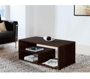 mesa ratona rectangular con estante.