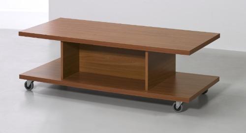 mesa ratona rectangular con ruedas.