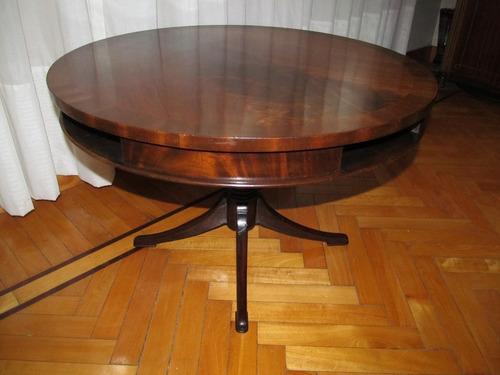 mesa ratona redonda ingles caoba 70x45 requiere lustre