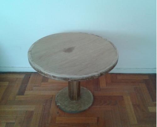 mesa ratona redonda madera guatambú