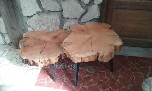 mesa ratona rustica madera