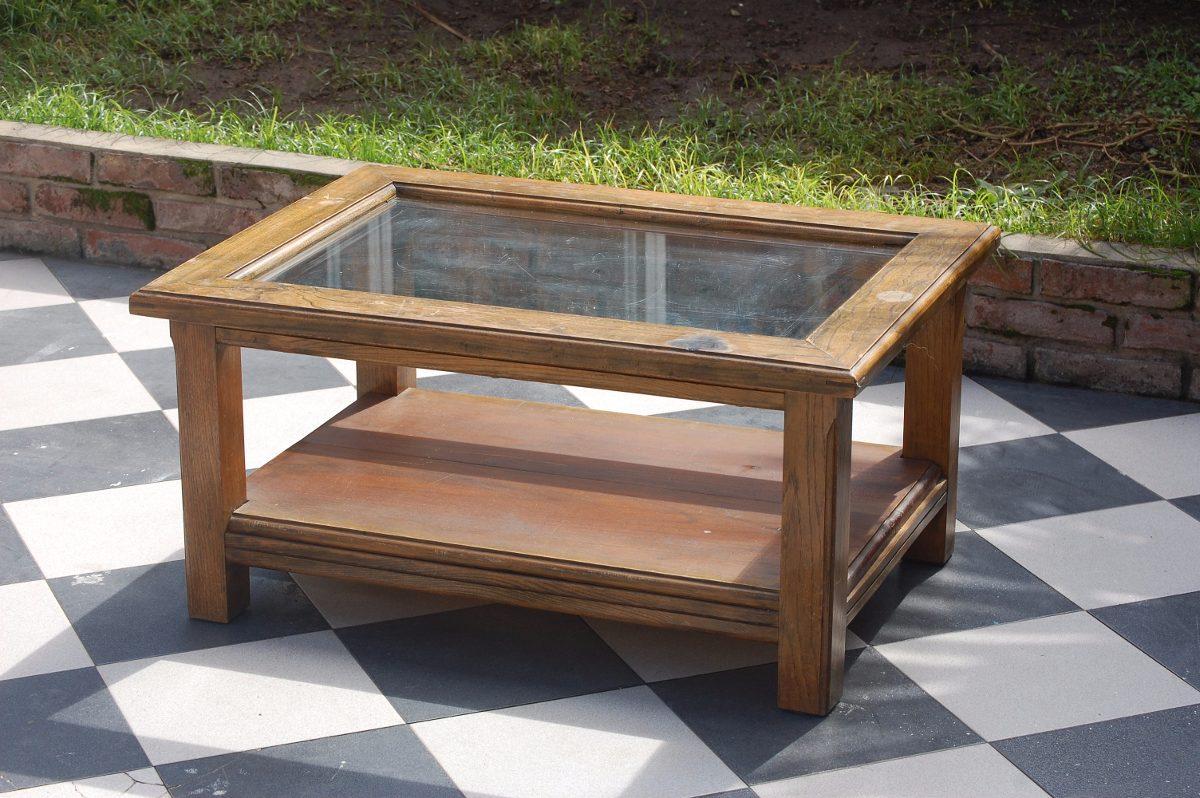 Mesas rusticas de madera maciza stunning mesa de centro - Tableros madera maciza ...