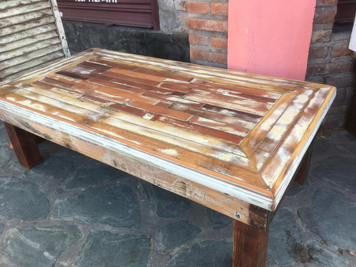 mesa ratona rustica maderas recicladas