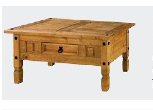 mesa ratona rustico madera maciza hogar web