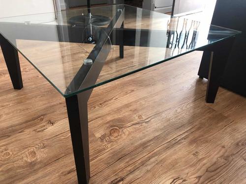 mesa ratona vidrio