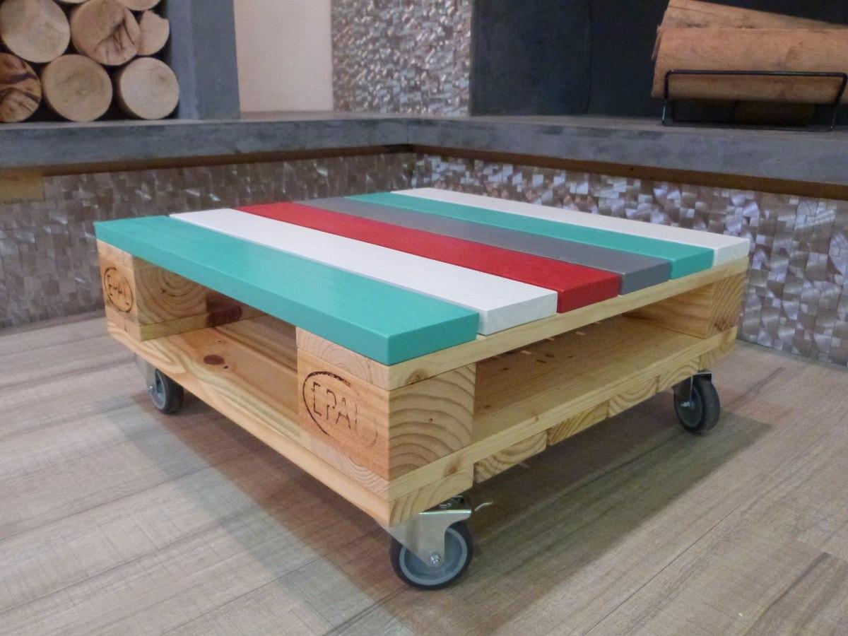 mesa ratona vintage de palet reciclado cargando zoom - Mesas Palets
