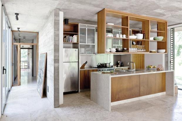 Mesa rebatible pizarron estanteria todo en1 muebles a for Poner muebles de cocina