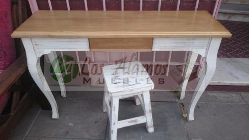 mesa recibidor 1.00x0.36 provenzal patinado los alamos
