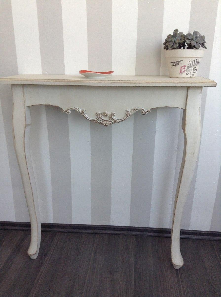 Mesa Recibidor Estilo Vintage Color Menta O Blanco Antiguo ...