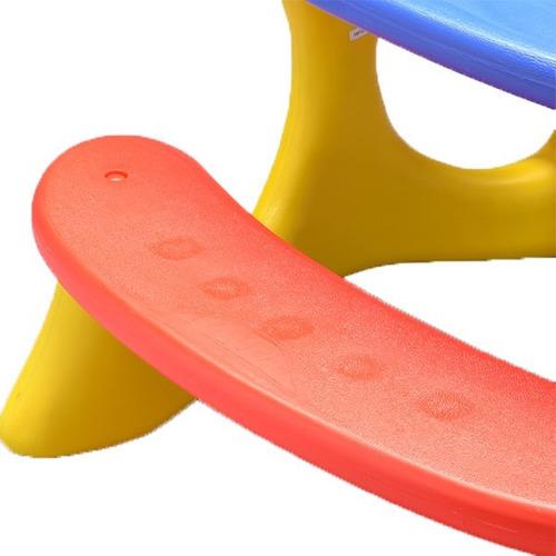 mesa recreio infantil plastico centro de atividades criança