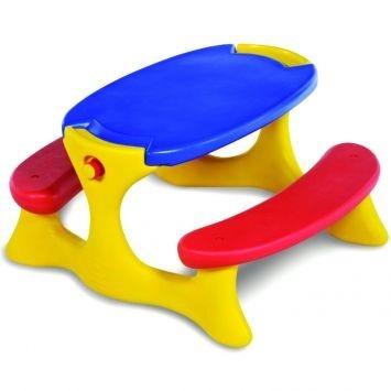 mesa recreio infantil plastico super resistente bandeirante