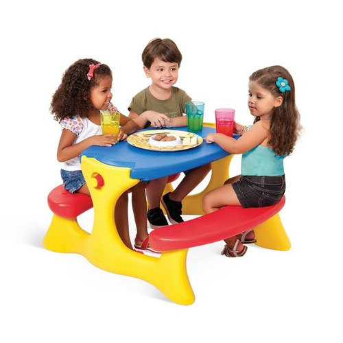 mesa recreio playground criança colorida bandeirante