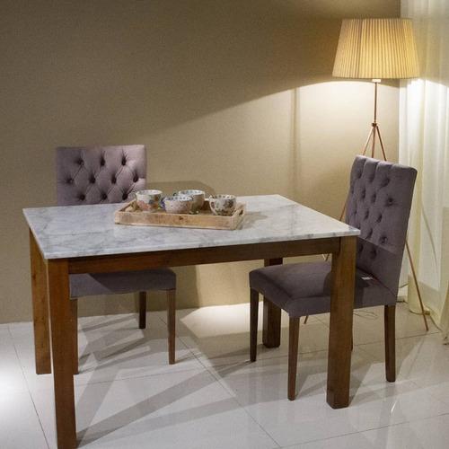 mesa recta mármol de carrara