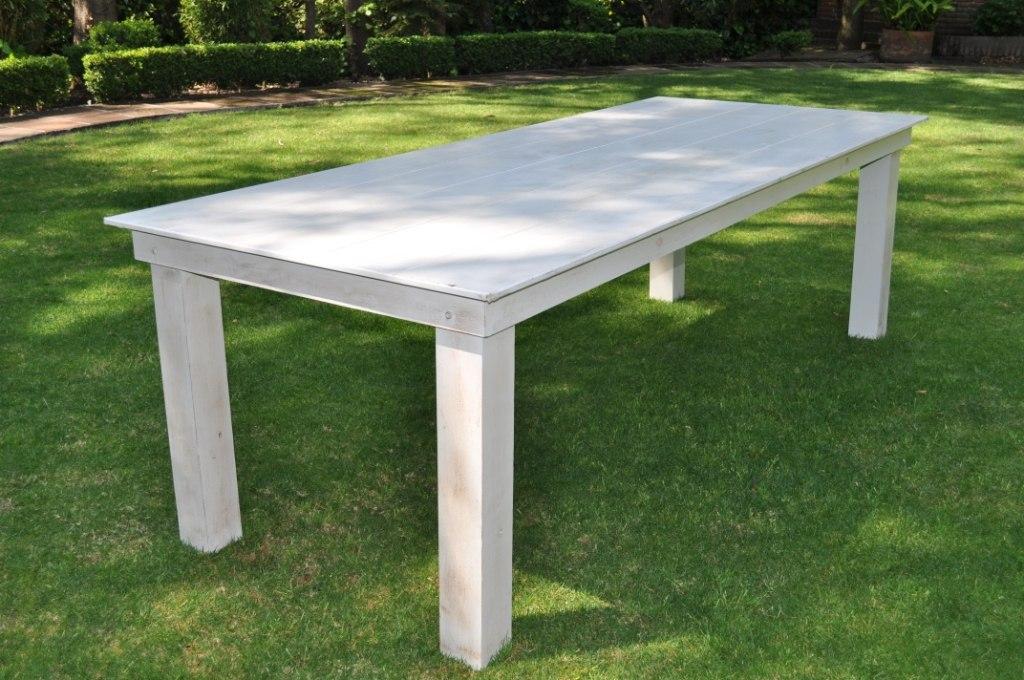 mesa rectangular madera vintage 3 en mercado libre