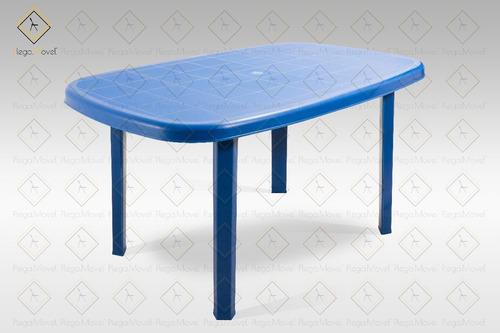 mesa rectangular patas desmontables azul restaurante hogar