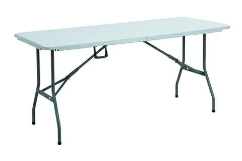 mesa rectangular plegable plastico duro (casa jardin fiestas