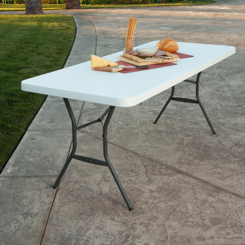 mesa rectangular portafolio 1.83 mts lifetime envío gratis