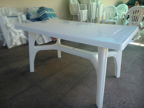 mesa rectangular reforzada patas en cruz 1,40 x 78 cm