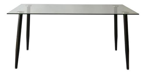 mesa rectangular vidrio iriarte 140 x 80cm varios colores